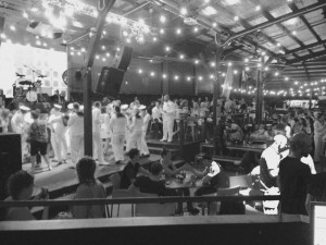 Sailors dancing on Anzac day at the Jack Hotel Cairns 2016